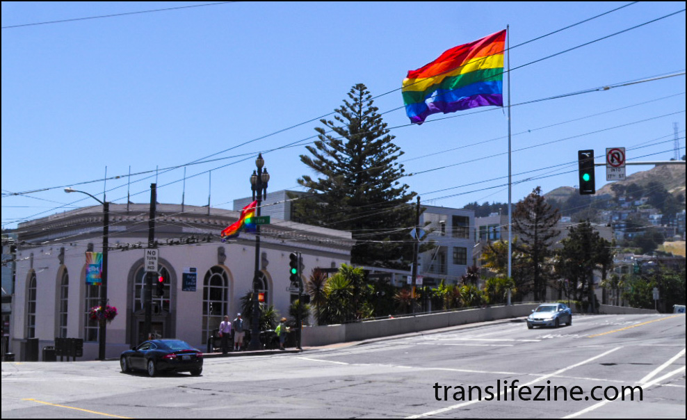 The corner of Castro and Market Streets in the Spring of 2013, San Francisco, Ca,